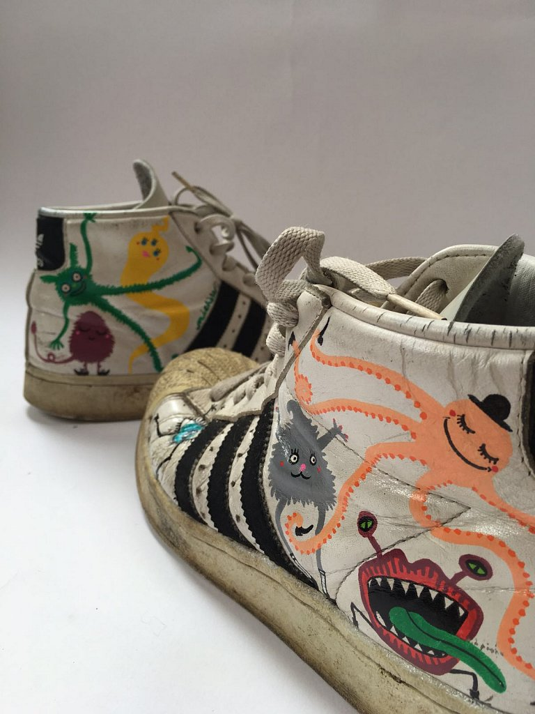 MONSTERIZED OLD SNEAKERS